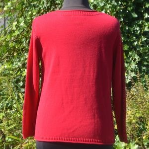 Christopher & Banks Sweaters - Christopher & Banks PXL Cotton Red Owl Sweater
